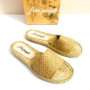 FREE PEOPLE Beach Espadrille Woven Slides